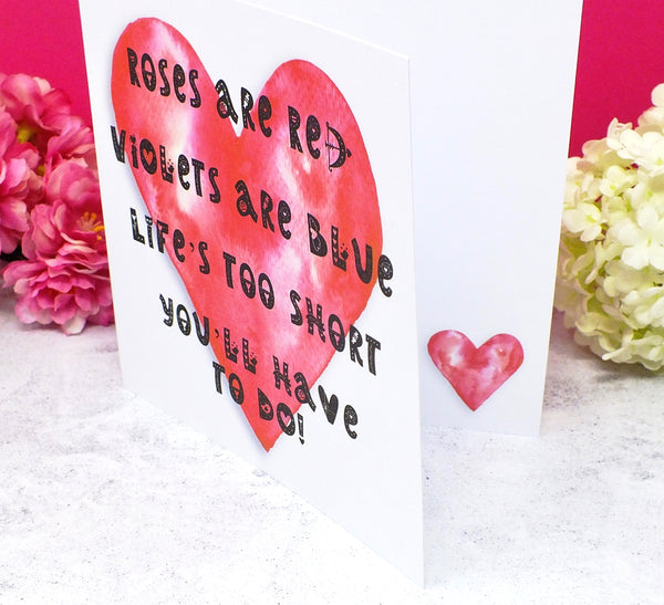 Funny Valentine's / Anniversary Card - You'll Have To Do Side