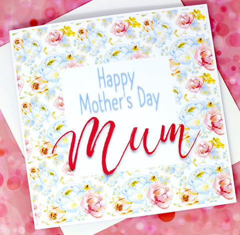 Happy Mother's Day Card - Vintage Floral