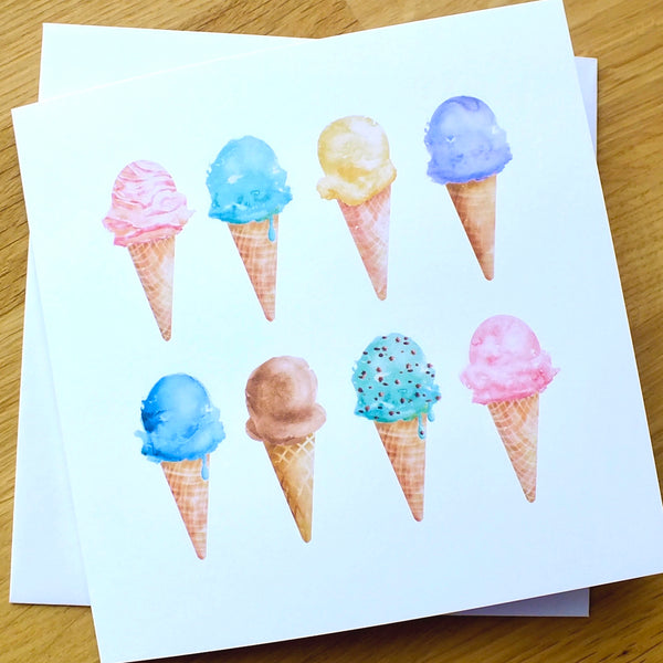 Pack of 4 Blank 'Summer' Greeting Cards Alternate