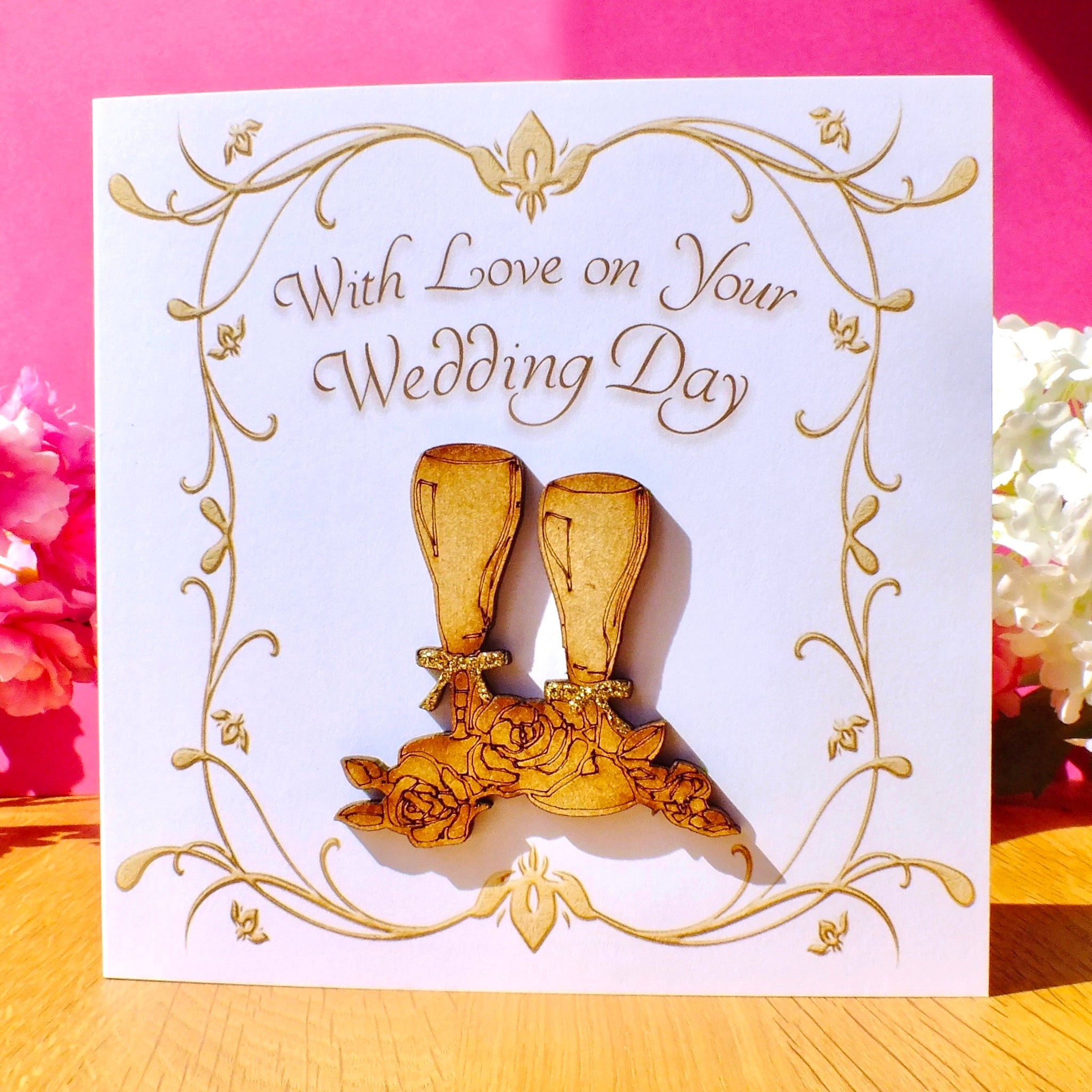 On Your Wedding Day Card - Rustic Sparkle