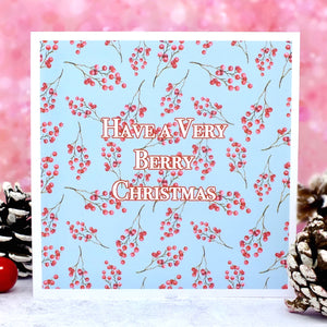 Have a Very Berry Christmas - Pack of 4 Christmas Cards Main