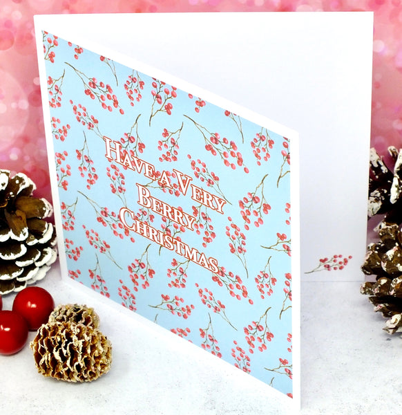 Have a Very Berry Christmas - Pack of 4 Christmas Cards Side