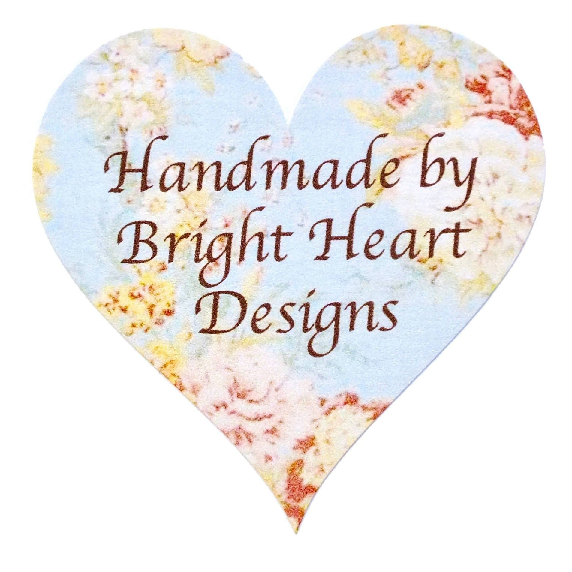 Personalised 'Handmade By' Stickers - 72 x Vintage Floral Theme