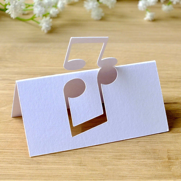 Music Note Place Cards - Set of 10