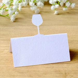 Wine Glass Place Cards - Set of 10