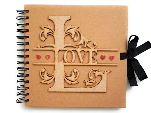 LOVE Rustic Scrapbook Album Front
