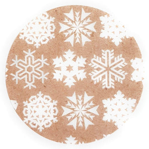 Eco-Friendly Christmas Snowflake Stickers for Gift Wrap - Set of 105