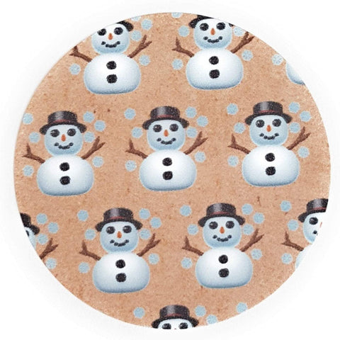 Eco-Friendly Christmas Snowman Stickers, perfect for Gift Wrapping - Set of 105 Main