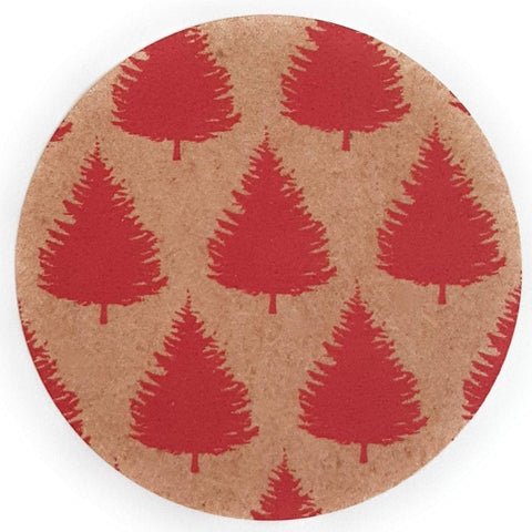 Eco-Friendly Christmas Tree Stickers for Kraft Gift Wap - Set of 105