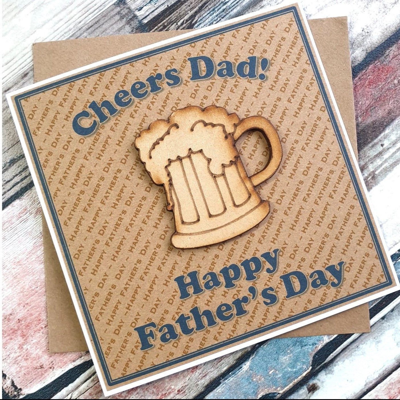 Father's Day Card - Cheers Dad! Beer Glass Design Main