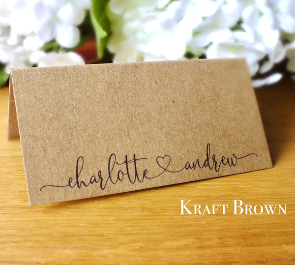 Personalised Wedding Place Cards - Pack of 12 Alternate