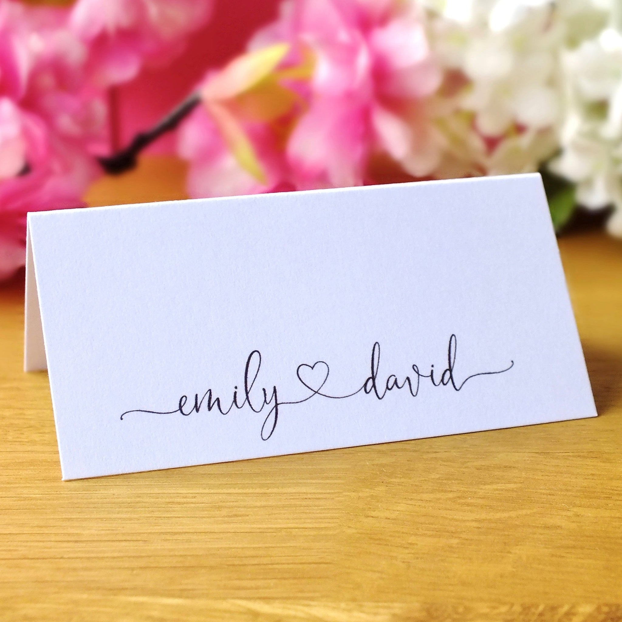 Personalised Wedding Place Cards - Pack of 12 Main