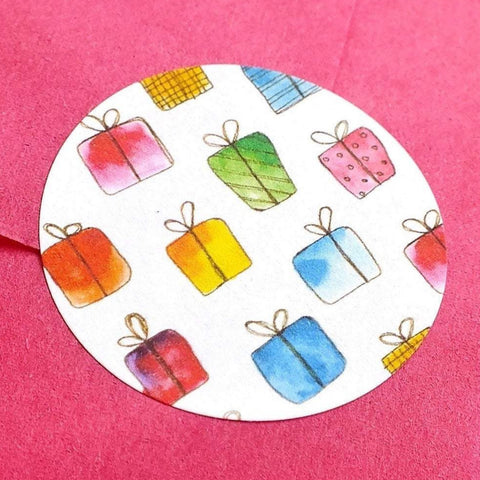Eco-Friendly Gift Box Stickers for Gift Wrap - Set of 105 Main