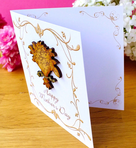 Luxury Mother's Day Card - Rustic Sparkle