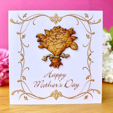 Luxury Mother's Day Card - Rustic Sparkle Main