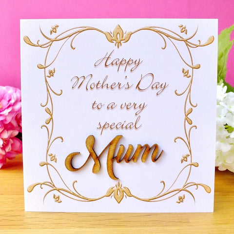 Mother's Day Card - Rustic Sparkle