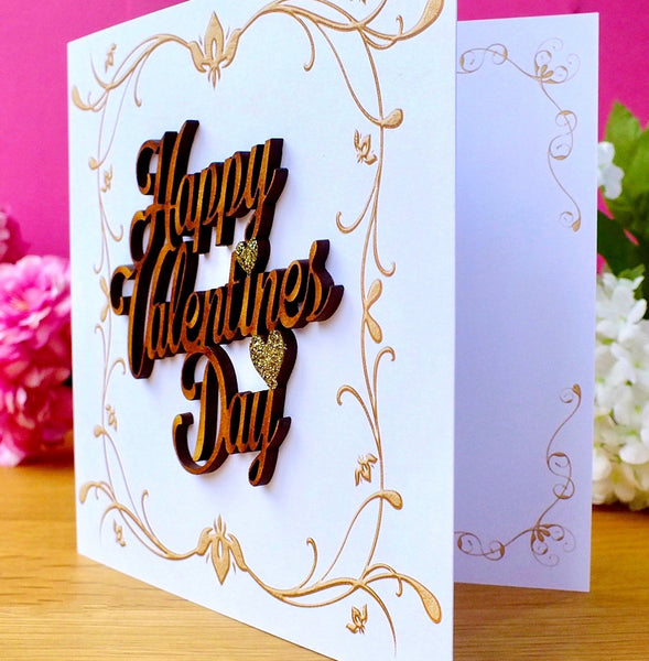 Happy Valentine's Day Card - Rustic Sparkle