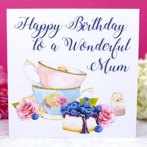 Afternoon Tea Birthday Card for Mum