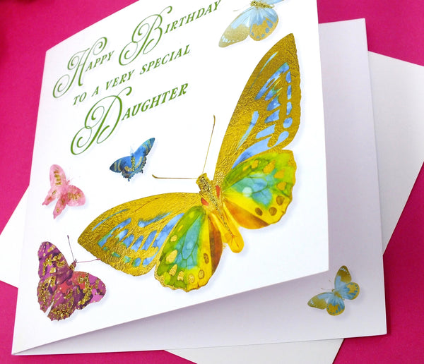Special Daughter Birthday Card - Butterflies Side