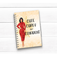 Load image into Gallery viewer, Cute Curvy and Confident Journal/Notebook