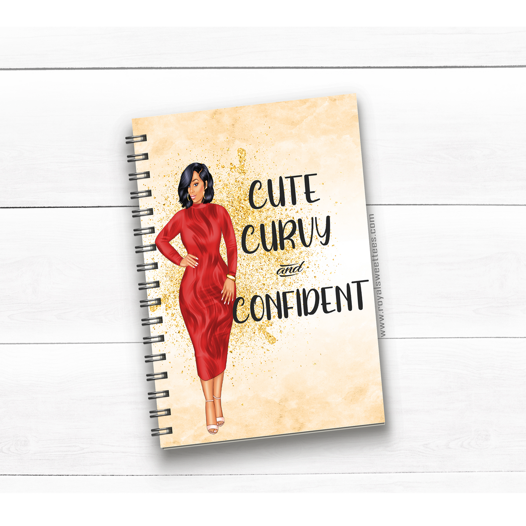 Cute Curvy and Confident Journal/Notebook