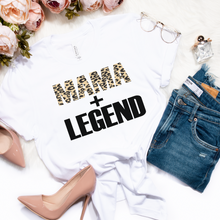 Load image into Gallery viewer, Mama + Legend Leopard Print Tee