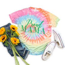 Load image into Gallery viewer, Proud Mama Tie-dyed Soft Tee