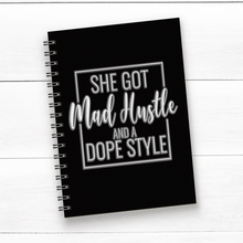 Load image into Gallery viewer, Journal- She Got Mad Hustle And A Dope Style