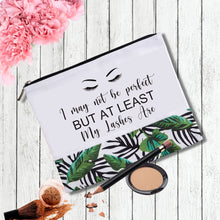 Load image into Gallery viewer, Makeup Bag with a Statement | Perfect Lashes