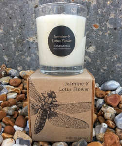 Jasmine & Lotus Flower Soy Blend Signature Candle