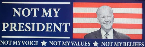 Not My President-Not my voice, not my values, not my beliefs stickers, red and white stripes - All Out Canvas