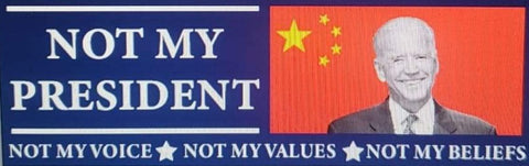 Not My President-Not my voice, not my values, not my beliefs stickers, China Flag - All Out Canvas