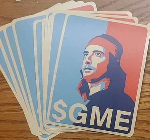 "$GME 5"" sticker - All Out Canvas"