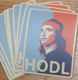 "HODL 5"" sticker - All Out Canvas"