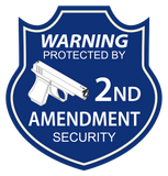"Contour cut 2A 2nd Amendment Security yard signs 16""x18"" with matching sticker - All Out Canvas"