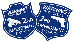 "Contour cut 2A 2nd Amendment Security stickers and yard sign 16""x18"" DOUBLE SIDED - All Out Canvas"