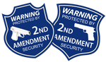 2A 2nd Amendment Security stickers - All Out Canvas