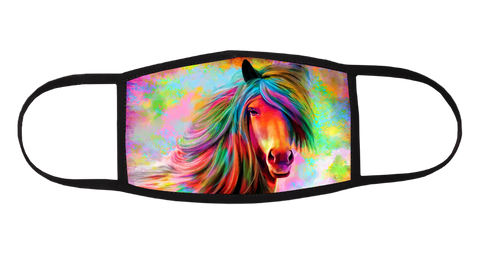 Rainbow Horse Mask - All Out Canvas