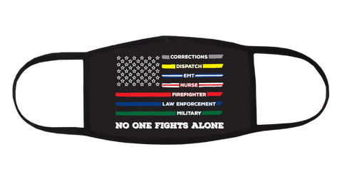 No One Fights Alone American Flag Mask
