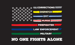 No One Fights Alone American Flag Mask - All Out Canvas