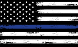 Back the Blue Distressed Mask American Thin Blue Line - All Out Canvas
