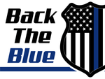 Back the Blue Shield with Stars and Stripes double sided yard sign + free decal - All Out Canvas
