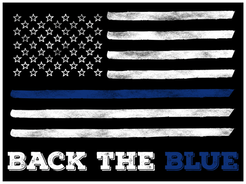 Back the Blue American Flag Yard Sign + free decal - All Out Canvas