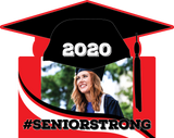 Contour cut #SeniorStrong yard sign - All Out Canvas
