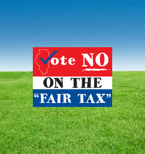 "Vote NO On The ""Fair Tax"" - All Out Canvas"