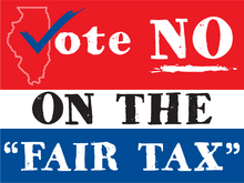 "Load image into Gallery viewer, Vote NO On The ""Fair Tax"" - All Out Canvas"