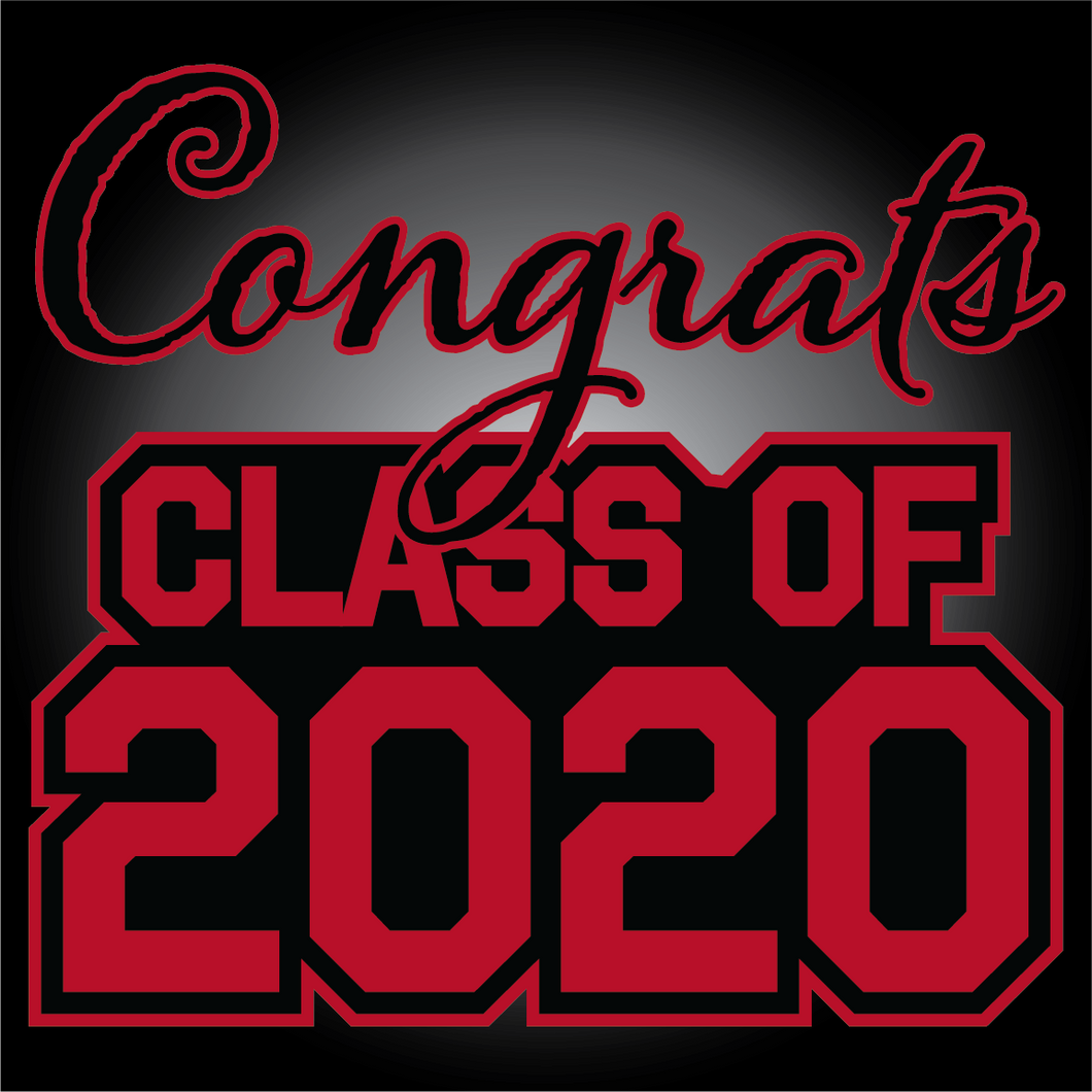 Black and Red Graduation Yard Sign