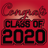 Black and Red Graduation Yard Sign - All Out Canvas