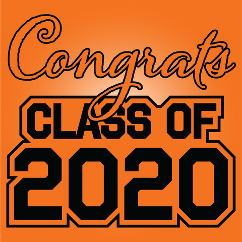 Orange and Black Graduation Yard Signs - All Out Canvas