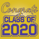Purple and Gold Graduation Yard Signs - All Out Canvas